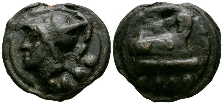 Ancient Roman Republican Coins - Aes Grave - Rome - Galley Triens