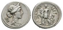 Ancient Roman Republican Coins - P. Licinius Crassus - Roma Denarius