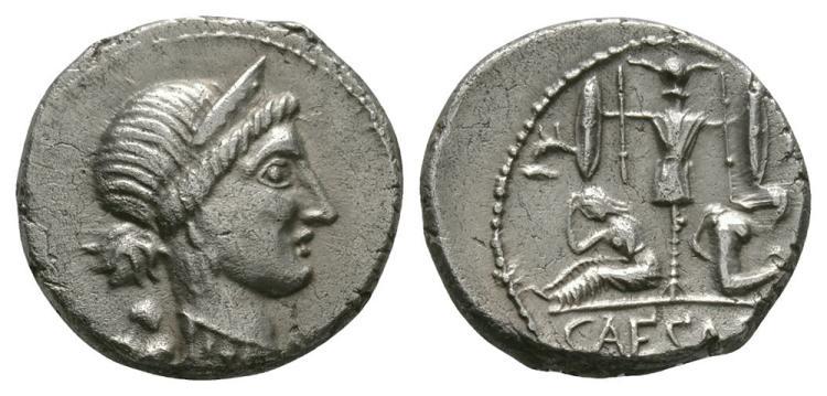 Ancient Roman Imperial Coins - Julius Caesar - Gallia Denarius