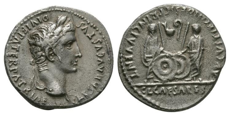 Ancient Roman Imperial Coins - Augustus - Gaius and Lucius Denarius