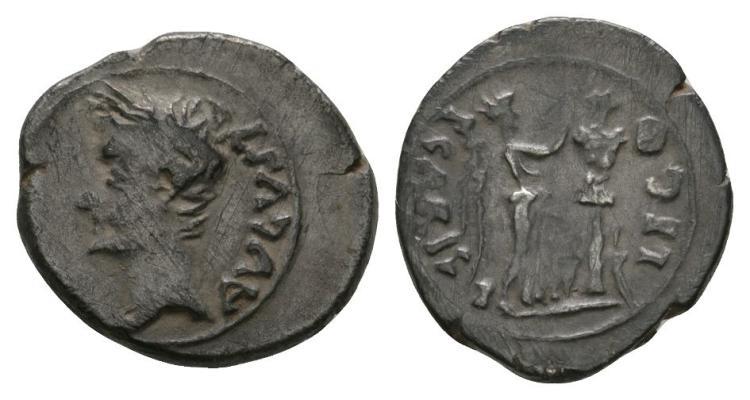 Ancient Roman Imperial Coins - Augustus - Victory Quinarius