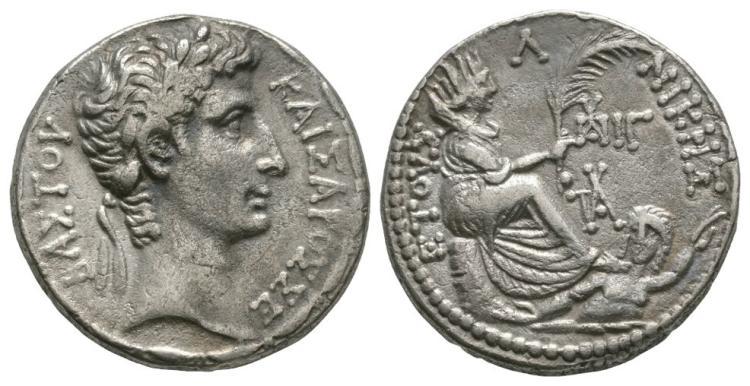 Ancient Roman Imperial Coins - Augustus - Antioch - Tyche Tetradrachm