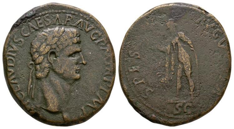 Ancient Roman Imperial Coins - Claudius - Spes Sestertius