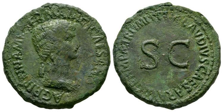 Ancient Roman Imperial Coins - Agrippina Senior (under Claudius) - SC Sestertius