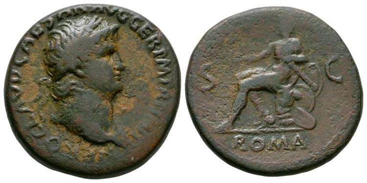 Ancient Roman Imperial Coins - Nero - Roma Sestertius