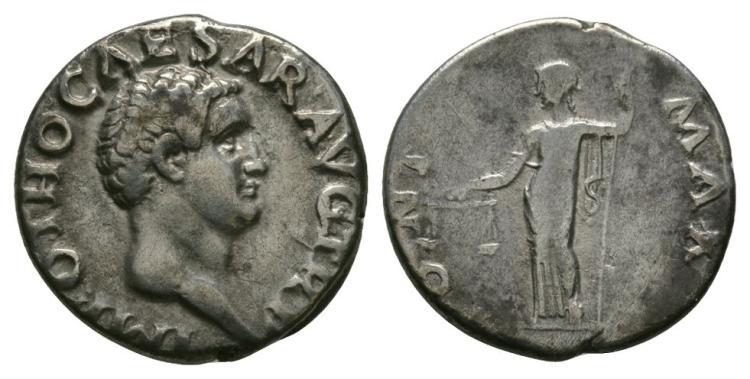 Ancient Roman Imperial Coins - Otho - Aequitas Denarius