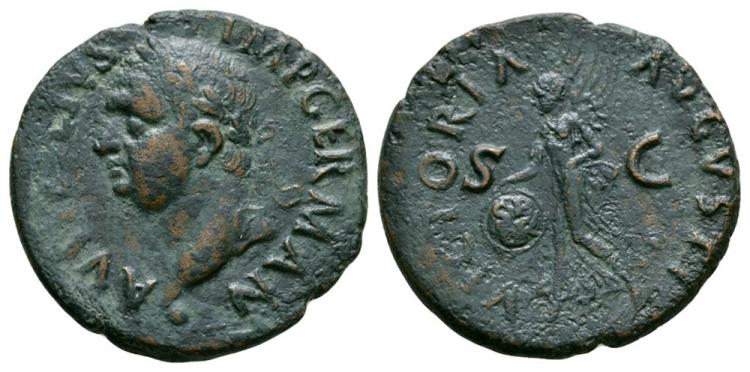 Ancient Roman Imperial Coins - Vitellius - Victory As