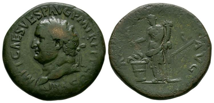 Ancient Roman Imperial Coins - Titus - Annona Sestertius