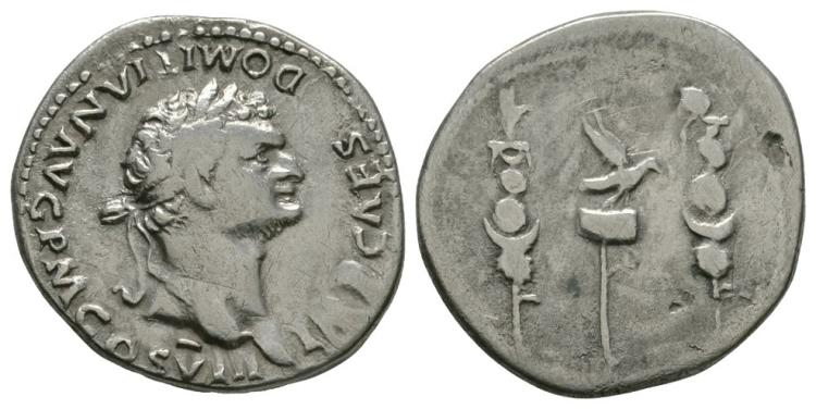 Ancient Roman Imperial Coins - Domitian - Aquila Cistophorus