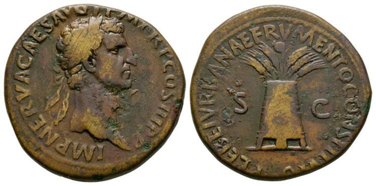 Ancient Roman Imperial Coins - Nerva - Modius Sestertius