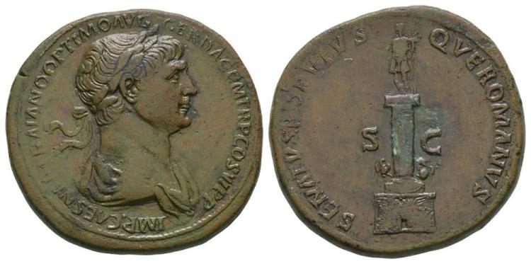 Ancient Roman Imperial Coins - Trajan - Trajan's Column Sestertius