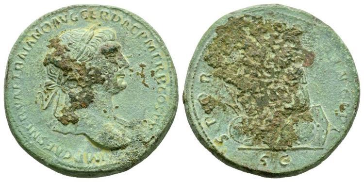 Ancient Roman Imperial Coins - Trajan - Dacia Sestertius