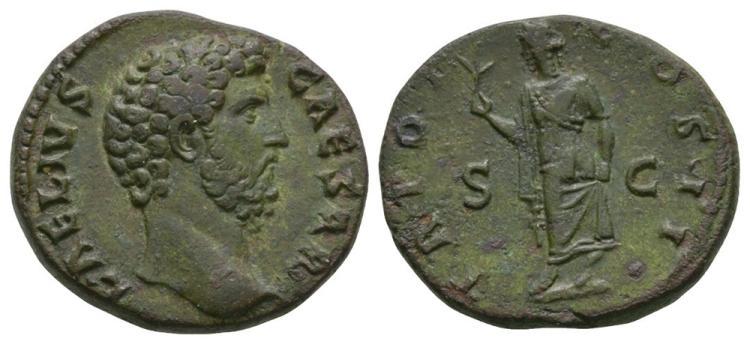 Ancient Roman Imperial Coins - Aelius - Spes Dupondius or As