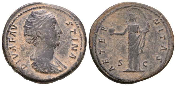 Ancient Roman Imperial Coins - Faustina I - Providentia Sestertius