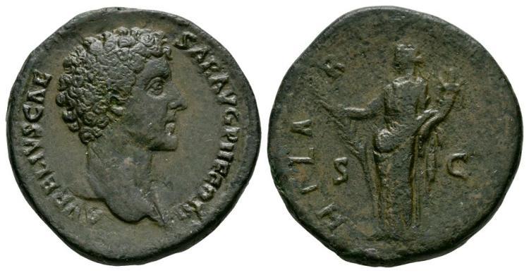 Ancient Roman Imperial Coins - Marcus Aurelius - Hilaritas Sestertius