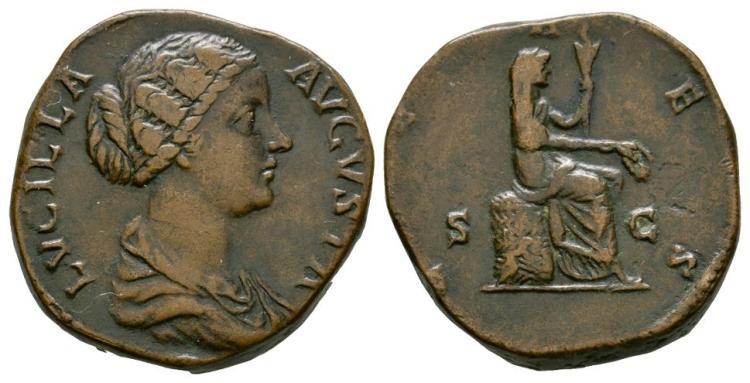 Ancient Roman Imperial Coins - Lucilla - Ceres Sestertius