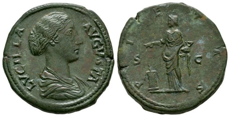 Ancient Roman Imperial Coins - Lucilla - Pietas Sestertius