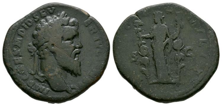 Ancient Roman Imperial Coins - Didius Julianus - Concordia Sestertius