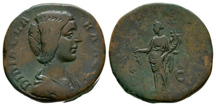 Ancient Roman Imperial Coins - Didia Clara - Hilaritas Sestertius
