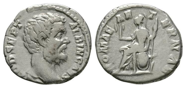 Ancient Roman Imperial Coins - Clodius Albinus - Roma Denarius