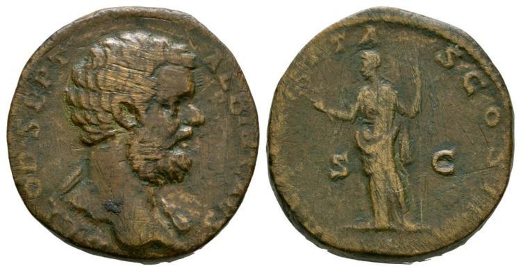 Ancient Roman Imperial Coins - Clodius Albinus - Felicitas Sestertius