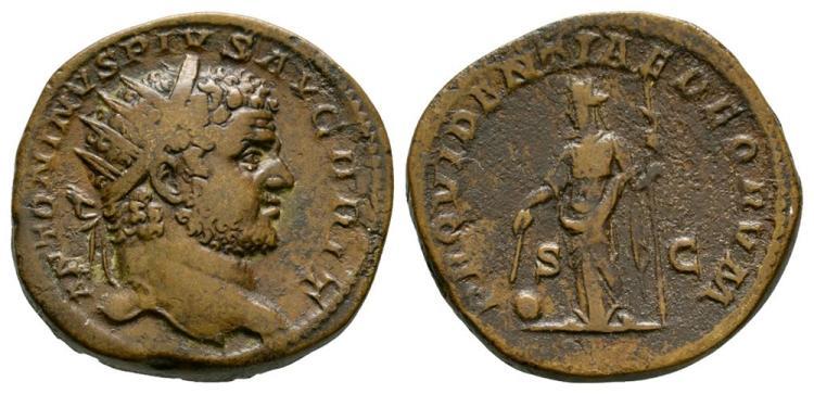 Ancient Roman Imperial Coins - Caracalla - Providentia Dupondius