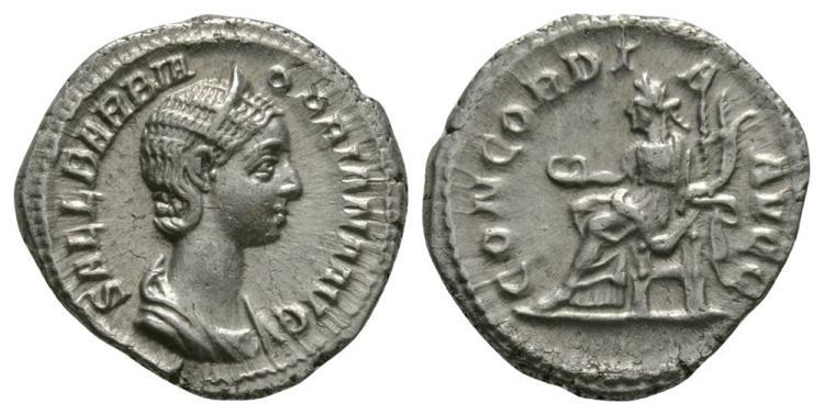Ancient Roman Imperial Coins - Orbiana - Concordia Denarius