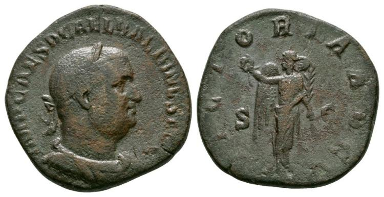 Ancient Roman Imperial Coins - Balbinus - Victory Sestertius