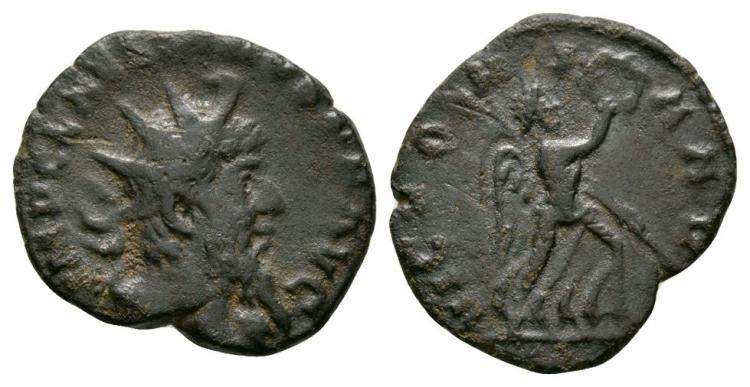 Ancient Roman Imperial Coins - Laelianus - Victory Antoninianus