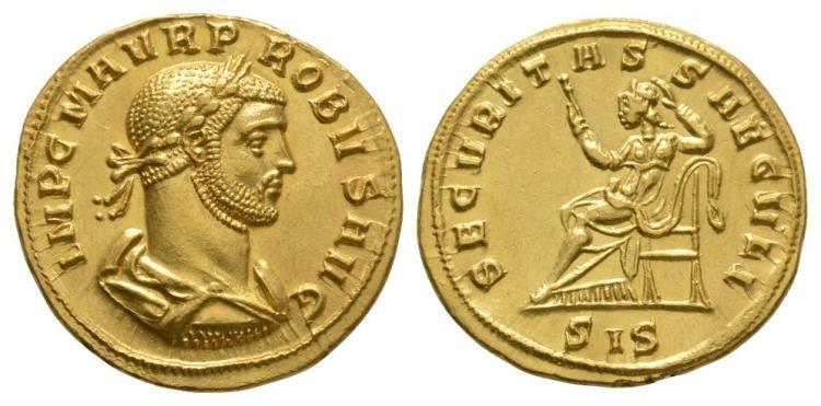 Ancient Roman Imperial Coins - Probus - Gold Securitas Aureus