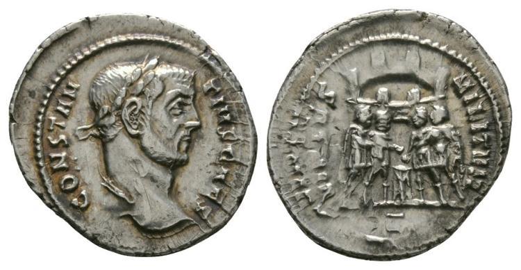 Ancient Roman Imperial Coins - Constantius I - Tetrarchs Argenteus