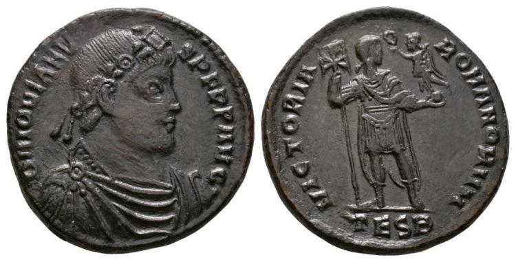 Ancient Roman Imperial Coins - Jovian - Emperor Standing Follis