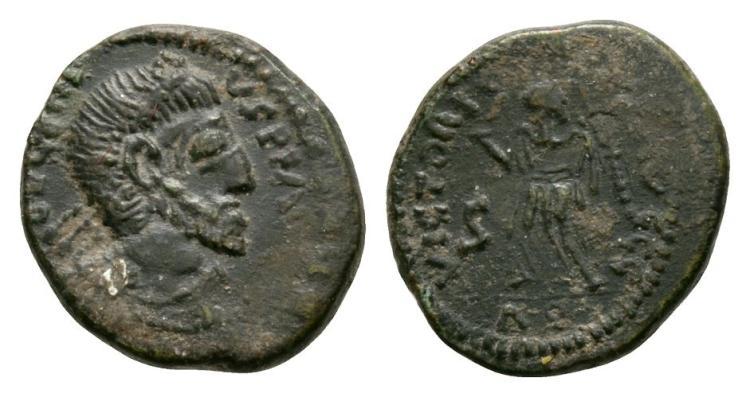 Ancient Roman Imperial Coins - Eugenius - Imitative Victory Bronze