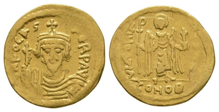 Ancient Byzantine Coins - Phocas - Gold Victory Solidus