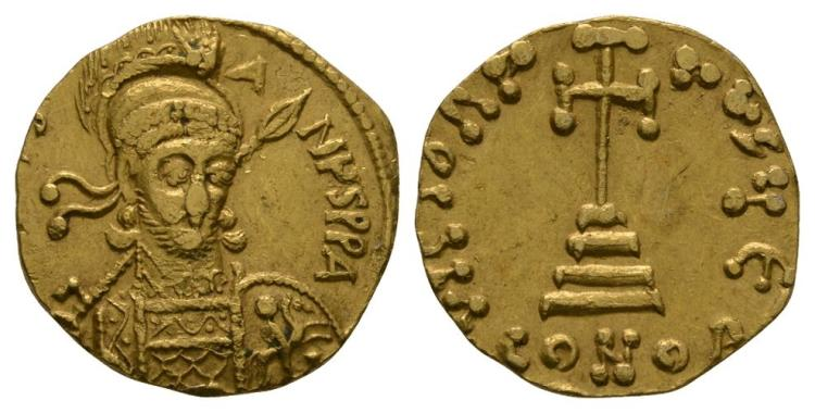 Ancient Byzantine Coins - Constantine IV - Cross-on-Steps Gold Solidus