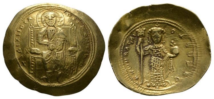 Ancient Byzantine Coins - Constantine X - Portrait Gold Histamenon