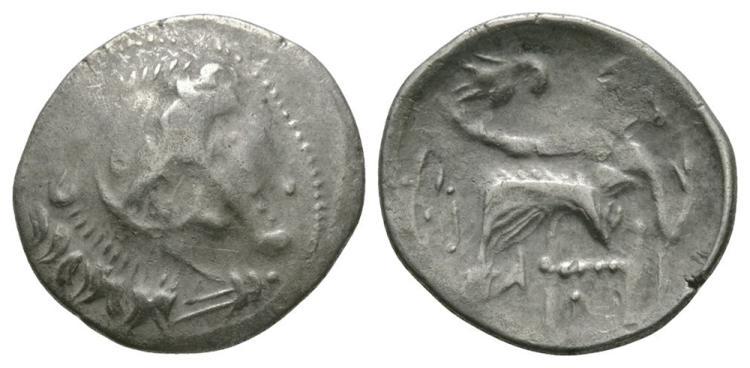 Celtic Iron Age Coins - Danubian Celts - Imitative Herakles Drachm