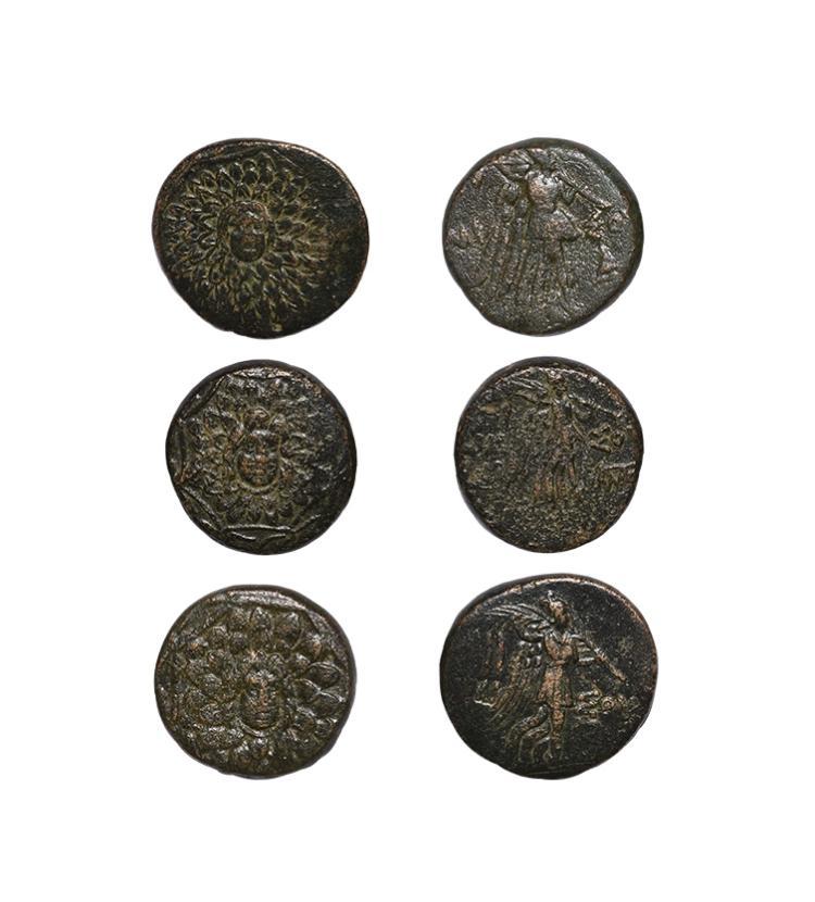Ancient Greek Coins - Amisos - Gorgoneion Bronzes [3]