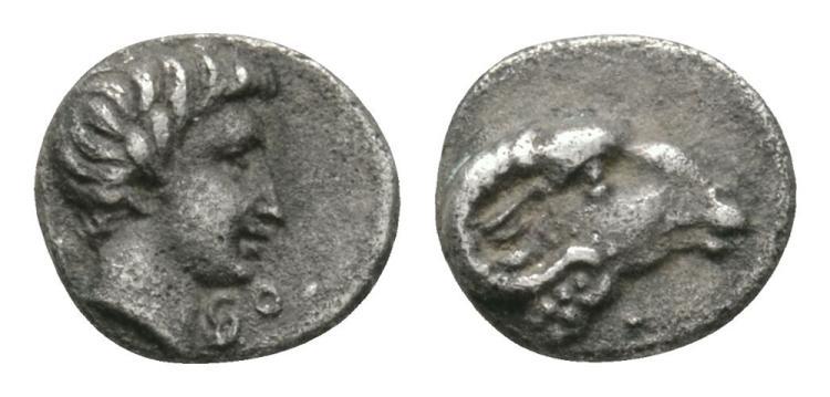 Ancient Greek Coins - Audymon or Abdemon - King of Cyprus - Hemiobol
