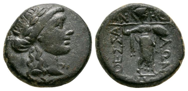 Ancient Greek Coins - Thessalian League - Athena Itonia Trichalkon