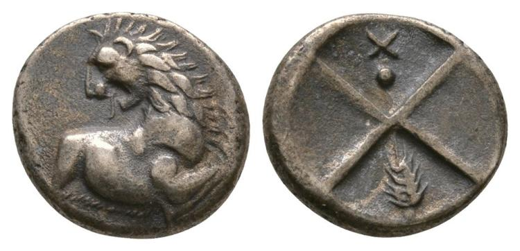 Ancient Greek Coins - Thracian Chersonesos - Lion Hemidrachm