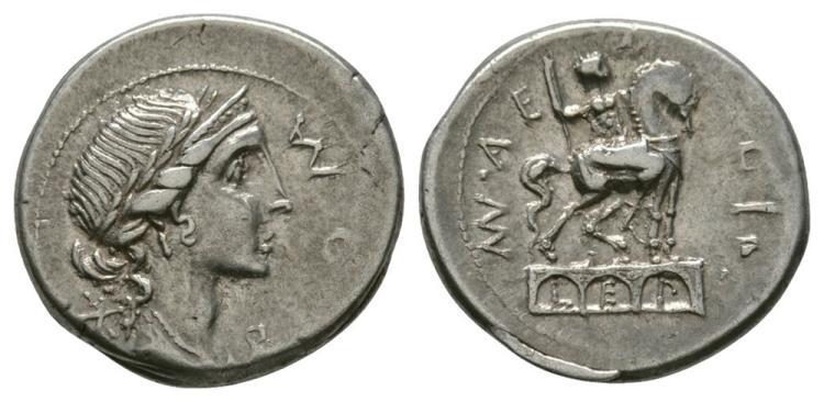 Ancient Roman Republican Coins - Man Aemilius Lepidus - Triumphal Arch Denarius