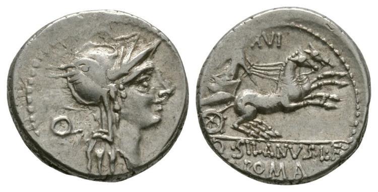 Ancient Roman Republican Coins - D. Silanus L. f. - Victory in Biga Denarius