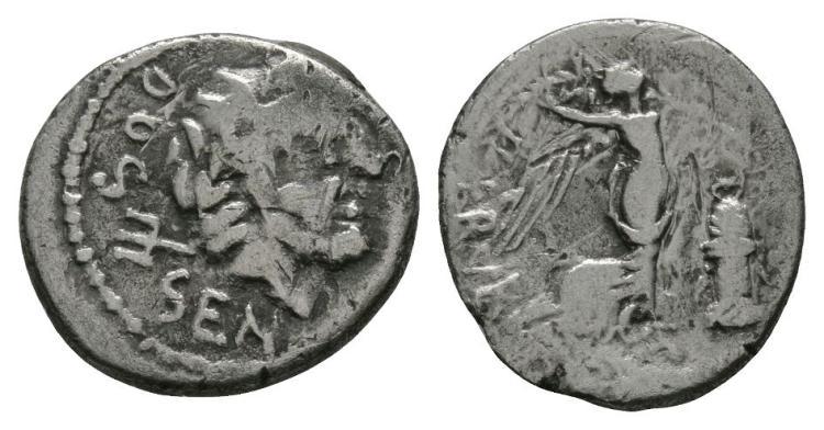 Ancient Roman Republican Coins - L. Rubrius Dossenus - Quinarius