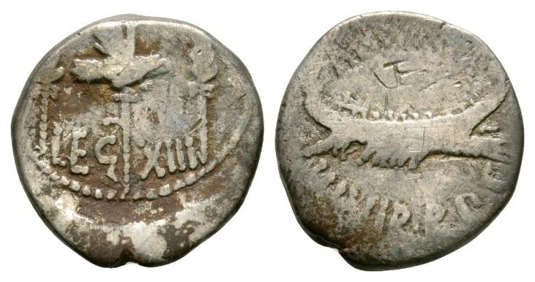 Ancient Roman Imperial Coins - Marc Antony - Legionary Denarius