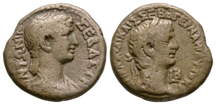 Ancient Roman Imperial Coins - Claudius and Antonia - Alexandria - Double Portrait Tetradrachm