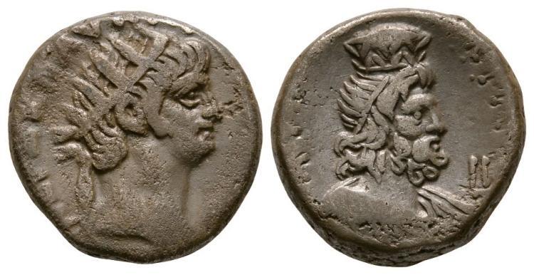 Ancient Roman Imperial Coins - Nero - Alexandria - Serapis Tetradrachm