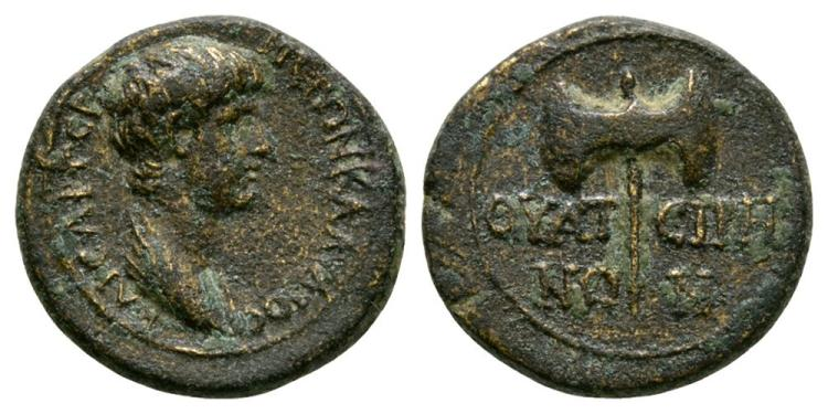 Ancient Roman Imperial Coins - Nero - Thyateira - Bronze