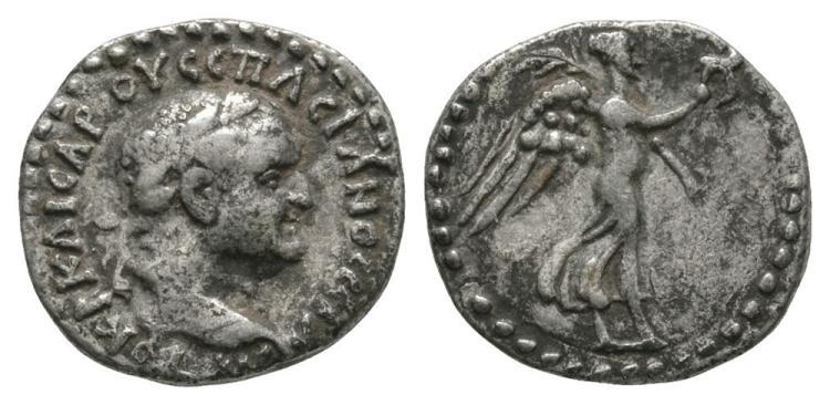 Ancient Roman Imperial Coins - Vespasian - Caesarea - Nike Hemidrachm