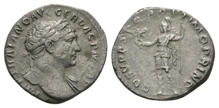 Ancient Roman Imperial Coins - Trajan - Roma Denarius